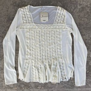 Jessica Chiffon, Lace, Sequin Long Sleeve Top